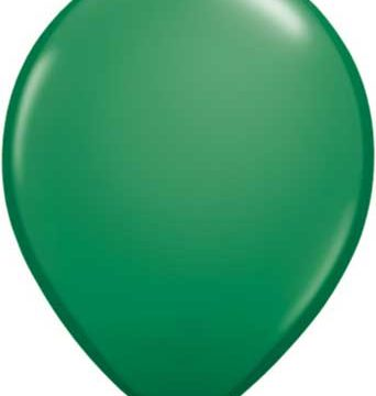 "11"" Green Qualatex Latex Balloons-0"