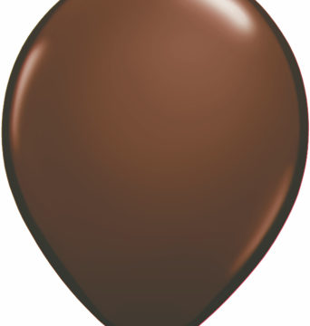 "11"" Chocolate Brown Qualatex Latex Balloons-0"