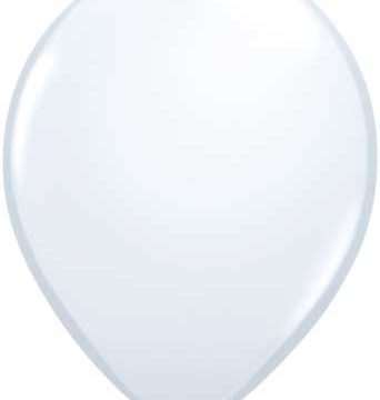"11"" White Qualatex Latex-0"