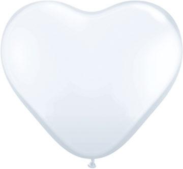 "11"" White Heart-0"