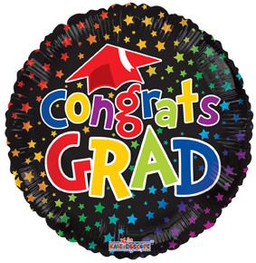 "18"" Congrats Grad Multicolor Gellibean-0"