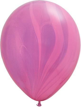 """11"""" Rainbow Pink/ Violet Superagate-0"""