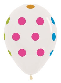 "11"" Polka Dot Multicolor Clear-0"