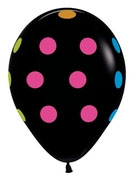 """11"""" Polka Dot Multicolor Black-0"""