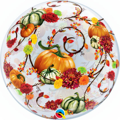 "22"" Autumn Floral & Pumpkins Bubble-0"